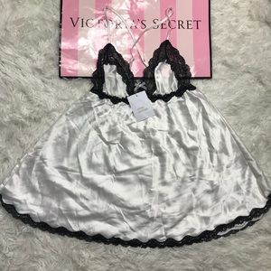 NWT Victoria Secret white satin lingerie small